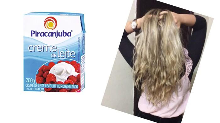 receita de creme de leite para o cabelo