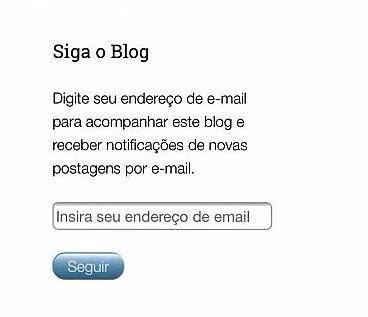 cadastre e-mail no blog