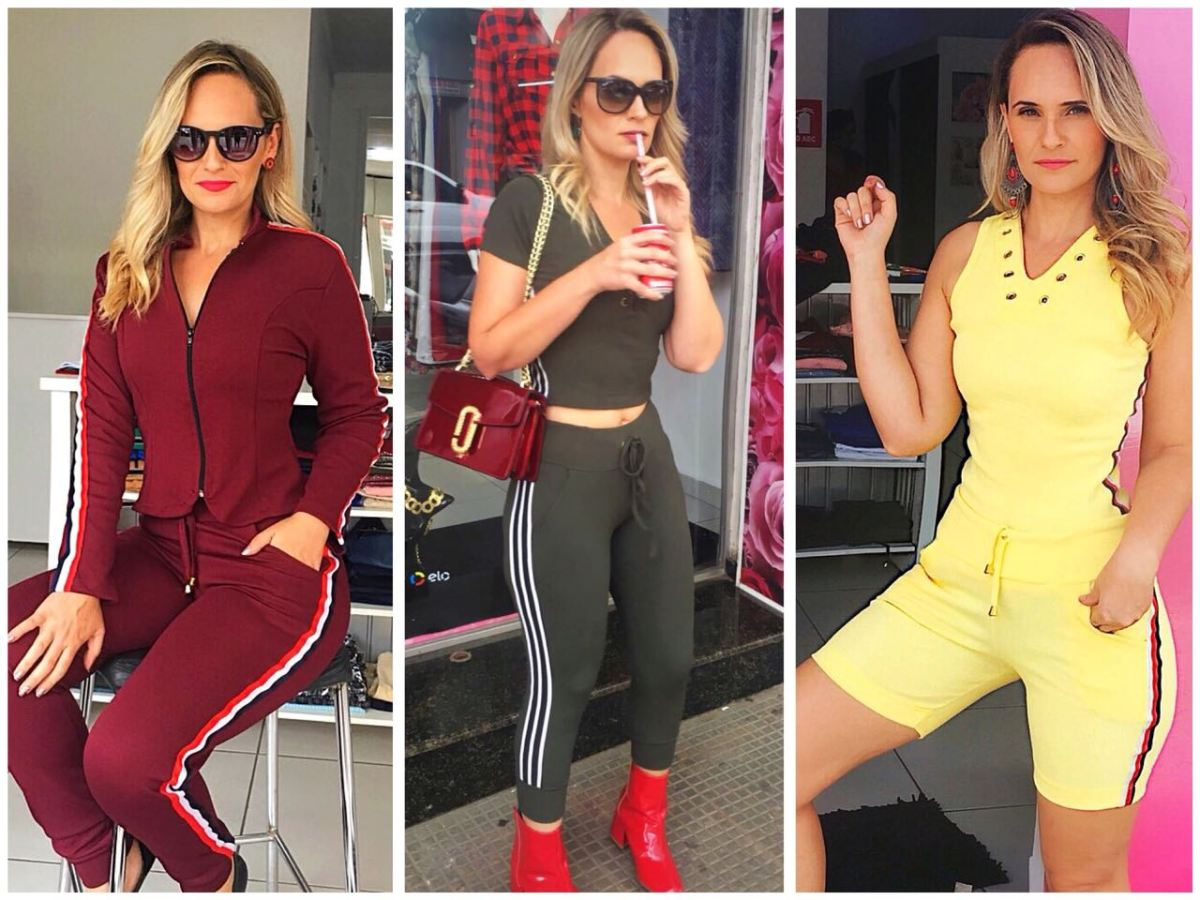 Look com listras na lateral – Danielly Chaves 1888360536