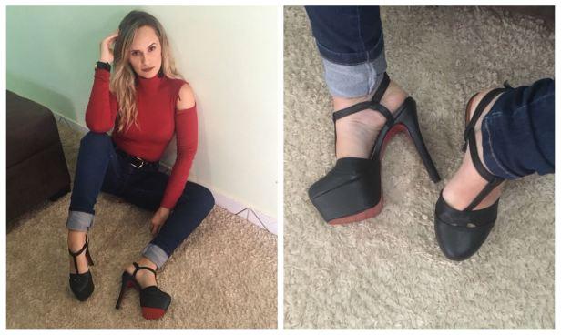 sapato meia pata preto